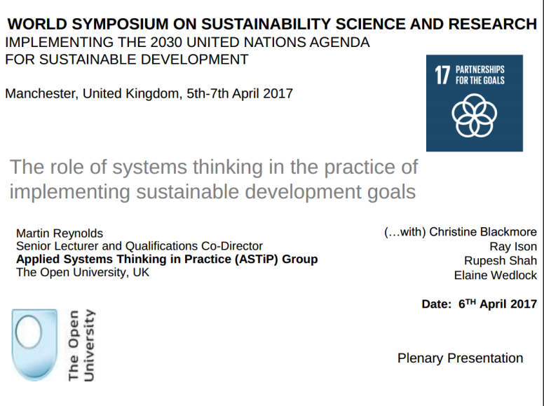 World Symposium on Sustainability Science and Research