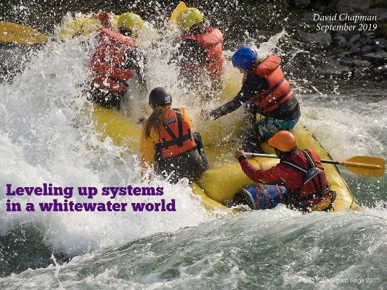 Title slide: Leveling Up Systems in a Whitewater World