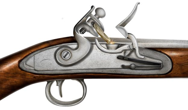 A flintlock mechanism