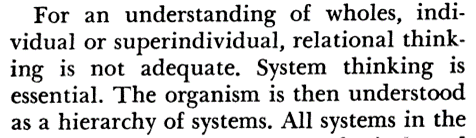 understanding of wholes